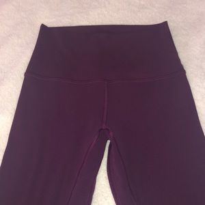 Purple cropped align legging